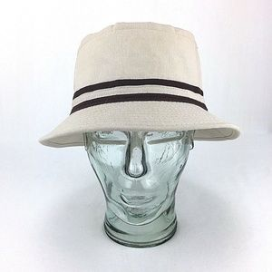 Cloth Fishing Bucket Hat Vintage Tan With Brown